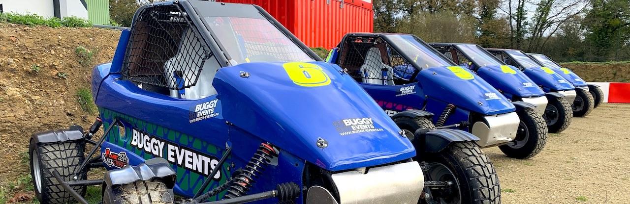 Buggy sur circuit terre en Loire-Atlantique